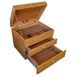Clubman Pro Bamboo Double Drawer